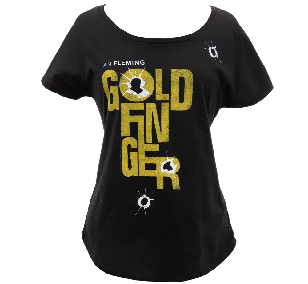 [Out of Print] Ian Fleming / Goldfinger Relaxed Fit Tee (Black) (Womens)